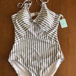 Cupshe All About Stripe one piece monokini XL NWT